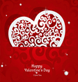 Laced with curls applique Valentine card vector image vector image