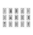 line icons building company set on white vector image vector image