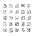 Line Icons With Detail 2 vector image vector image