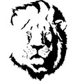 lion head tattoo-4 vector image