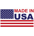 made in usa with flag icon vector image vector image