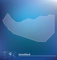 Map of Somaliland vector image vector image