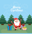 merry christmas celebration and decoration design vector image vector image