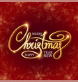 merry christmas elegant design template vector image