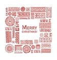 Merry Christmas Ethnic handmade ornament for your vector image vector image