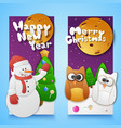 merry christmas vertical banners set vector image