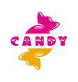 modern sweets and candy logo vector image vector image