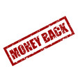 money back rubber stamp texture vector image vector image