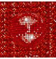 mosaic disco background vector image vector image