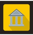 Museum building icon flat style vector image vector image