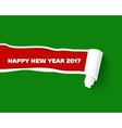 New Year red torn edge template and paper vector image vector image