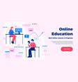 online education website page design vector image