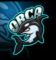 orca esport logo mascot design vector image vector image