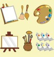 painting tools vector image vector image