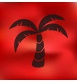 palm icon on blurred background vector image