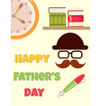 poster happy fathers day vector image