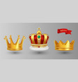 realistic royal crowns luxury premium vector image