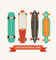 retro skateboard decks icons vector image vector image