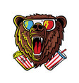 roaring bear vector image