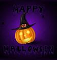 scary jack o lantern halloween pumpkin vector image