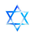 sky color sacred star of david symbol shield of vector image vector image