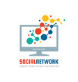 social network - concept business logo tempalte vector image