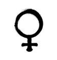 sprayed female logo woman symbol gender symbol vector image