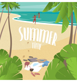 Summer time on the sea vector image vector image
