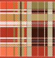 tartan seamless texture mainly in light brown hues vector image vector image