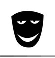 theater mask icon design vector image