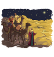 three wise men following star bethlehem vector image vector image
