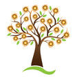 tree sunflower logo design vector image
