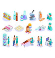 vaccination isometric icons collection vector image