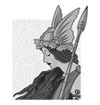 valkyrie to scandinavian mythology vector image