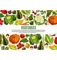 vegetable and mushroom border banner design vector image