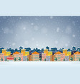 village in winter background vector image