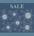 winter sale vector image vector image