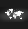 world map isolated on black background can be vector image vector image