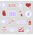 16 simple blood stickers set eps10 vector image vector image