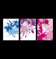 abstract color splash on white background vector image vector image