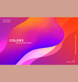 abstract vibrant fluid colors background vector image vector image