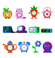 alarm clock cartoon kids clockface clocked vector image vector image