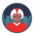 american football player with cityscape vector image