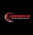auto performance logo vector image vector image