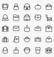 bags icons vector image vector image