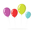 balloons isolated colorful clipart flat vector image
