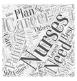 Best Nursing Careers Careers of Today and of the vector image vector image