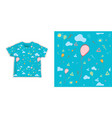 birthday seamless background for fabric vector image vector image