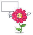 bring board pink flower character cartoon vector image vector image