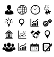 Business icons set for infographics vector image